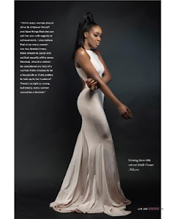 , Nigerian-Cameroonian Model/TV presenter-actress Idia Aisien showcases in Genevieve Mag Fashion, Latest Nigeria News, Daily Devotionals & Celebrity Gossips - Chidispalace