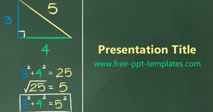 pythagorean theorem ppt template