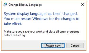 Change display languages