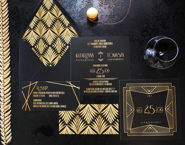 zaproszenia ślubne czarne