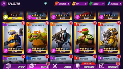 Ninja Turtles Legends v1.6.16 Mod Apk Terbaru