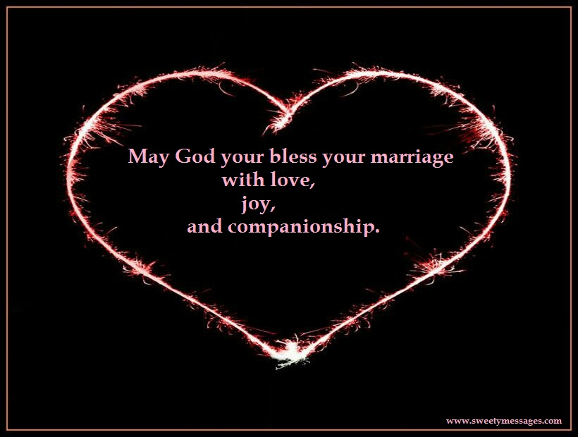 May God Your Bless Your Marriage With Love Joy And Companionship