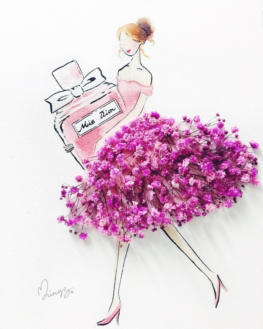 16-Miss-Dior-Limzy-Real-Flowers-in-Drawings-of-Dresses-www-designstack-co