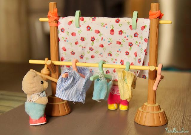 doudou maman papa et moi la grande lessive de printemps sylvanian families. Black Bedroom Furniture Sets. Home Design Ideas