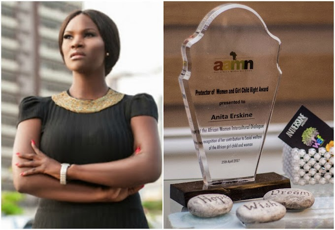 Anita Erskine honoured with Protector of Women and Girl Child Right Award