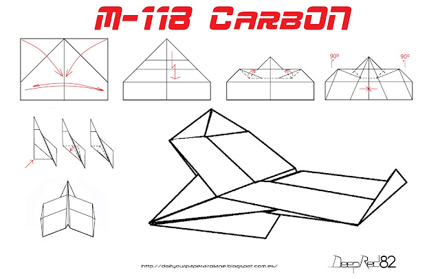 Infografía avión de papel M-118 CarbOn