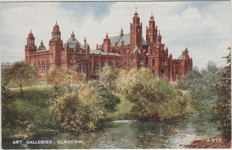 Vintage postcard of the Art Galleries, Glasgow