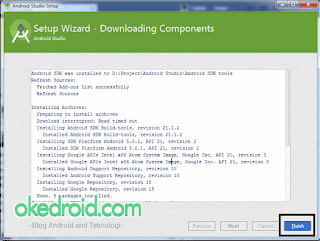 Finish Downloading Components Android Studio