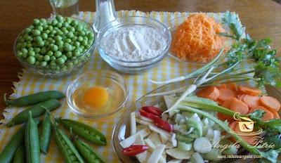 Preparare supa de mazare cu galuste-etapa 1