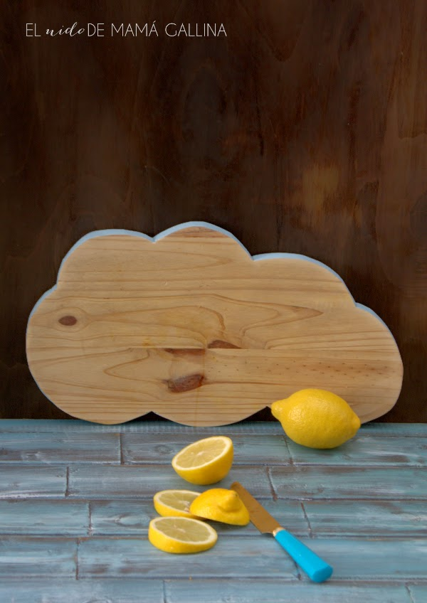 cloud chopping board DIY
