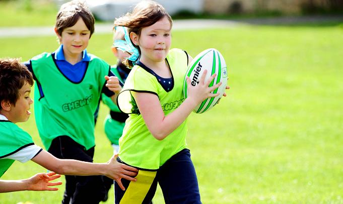 sports fun children playing rugby having safety tips activities tag term half