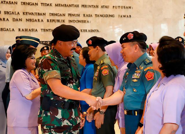Panglima TNI Terima Laporan Korps Kenaikan Pangkat 51 Pati TNI