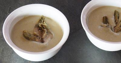 Crema de alcachofas