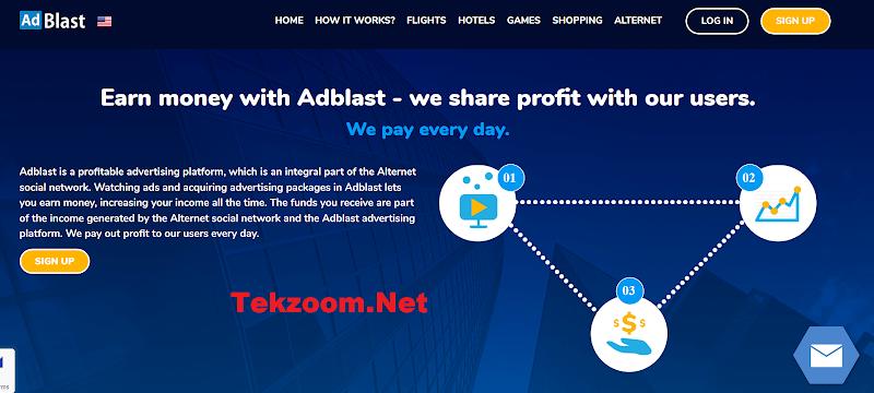 Review RevShare AdBlast.org [.online] - Lãi up 1.13% hằng ngày - Thanh toán Manual