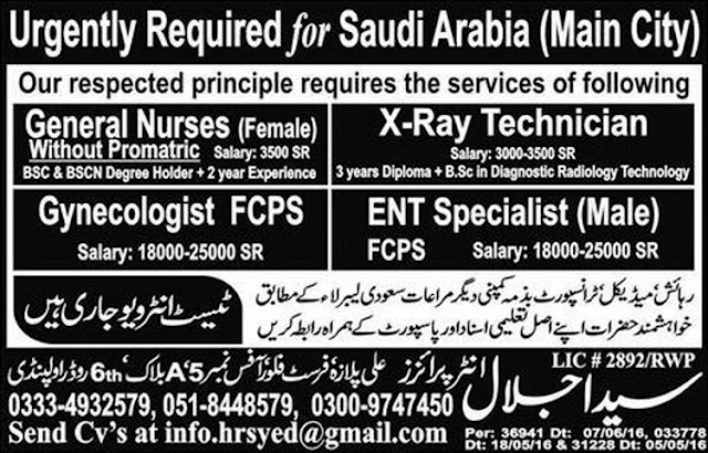 Nurses Jobs Doctors Jobs in Saudi Arabia