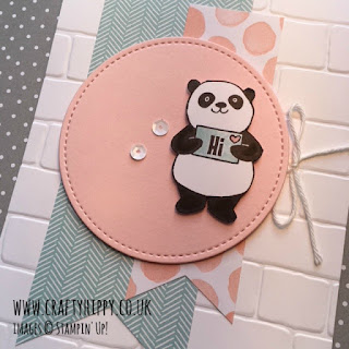 Party Pandas Pink Pirouette Card by Stampin' Up!
