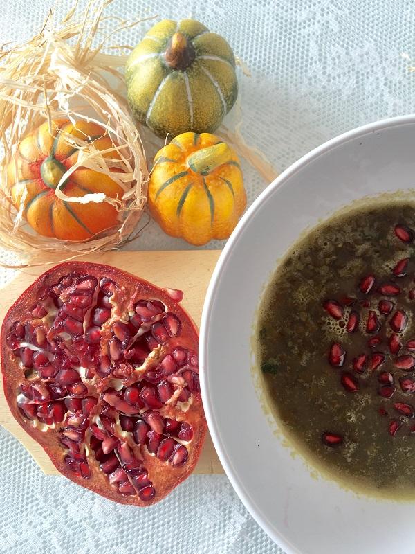 Zuppa lenticchie e melograno