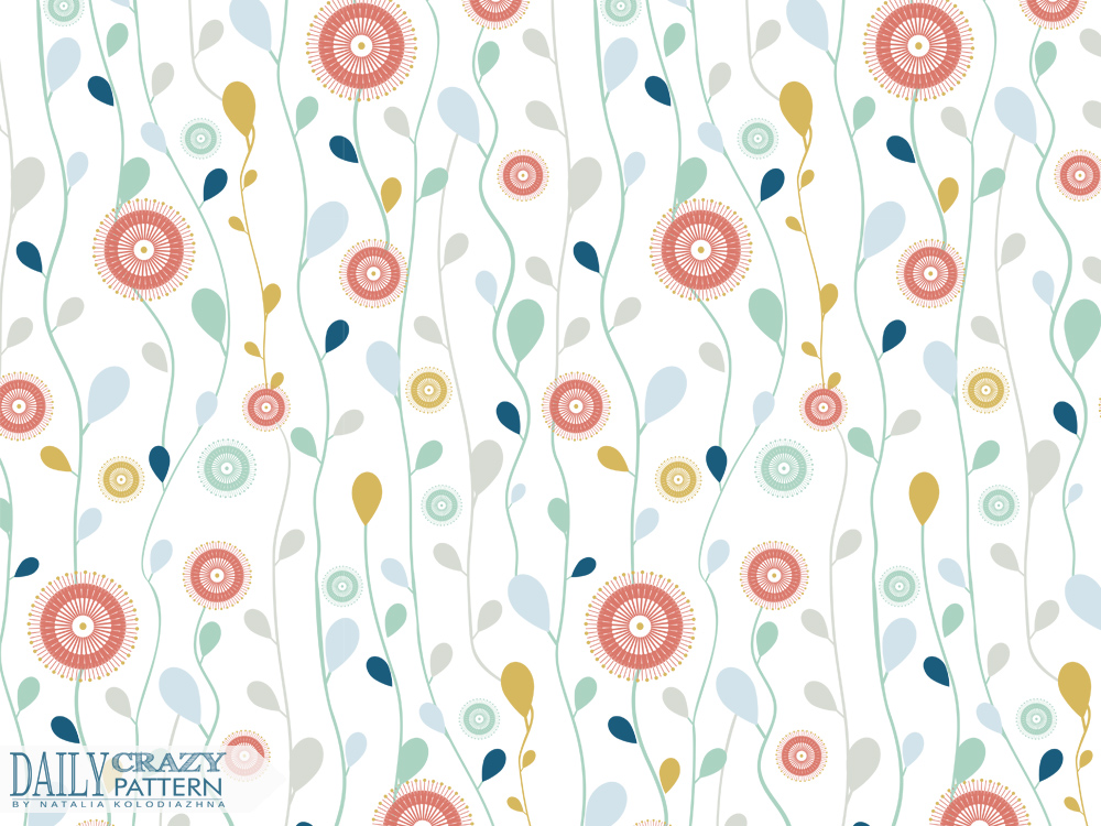 "Floral print for ""Daily Crazy Pattern"" project"