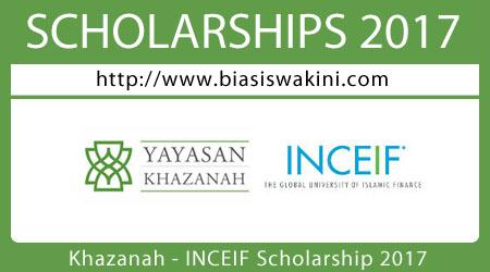 Khazanah-INCEIF Scholarship 2017