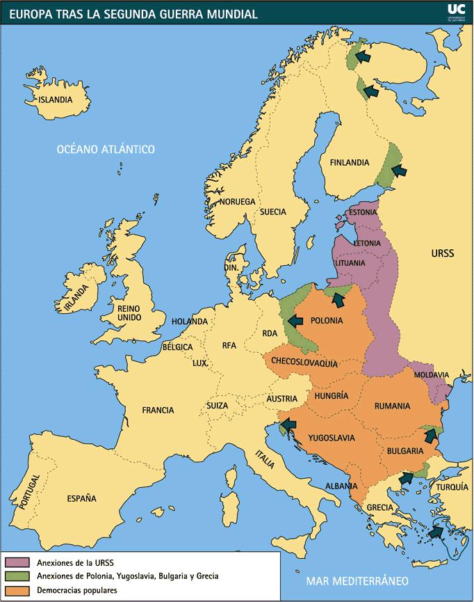 Resultado de imagen de PAISES COMUNISTAS EUROPA TRAS SEGUNDA GUERRA MUNDIAL