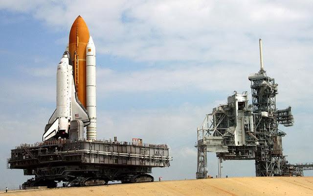 NASA Crawler Transporter, transporte da nave Columbia