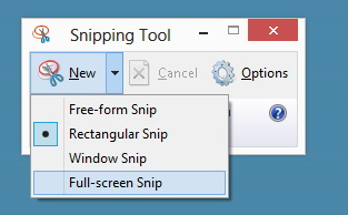 Snipping Tool screenshot software for screen recording