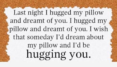 good night i hugged my pillow