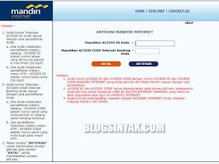 Mandiri Internet Banking - Blogsinyak