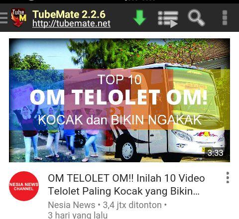 Mengunduh Video Youtube menggunakan Android