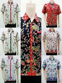 Model Baju Batik Pria Motif Gentong Aneka Warna