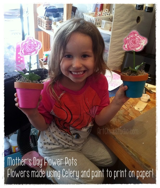 Mothers Day Flower Pots Tutorial