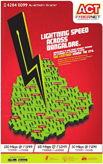 act corp lighting speed   of internet across Bangalore