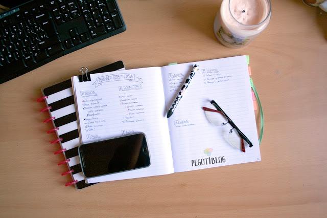 Aplicación Bullet journal para hogares