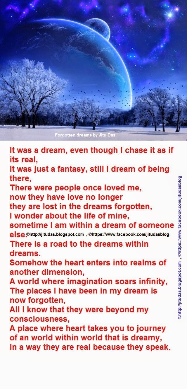 A forgotten dream by Jitu Das english poems