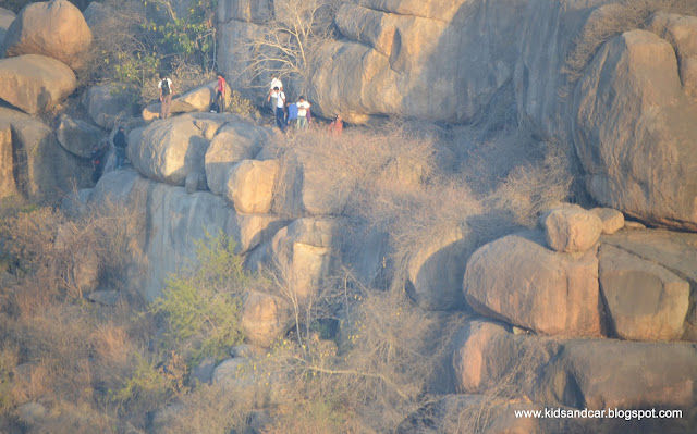 hiking and bouldering with ghac near pbel city peerancheru