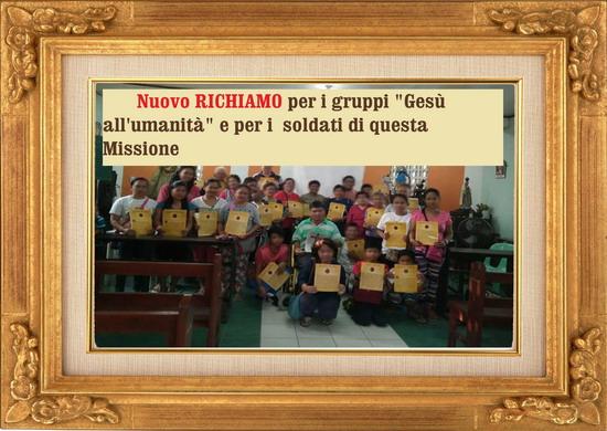 "✉●̮̑۰۰̮̑ URGENTE! Nuovo RICHIAMO per i gruppi ""Gesù all'umanità"" e per i soldati di questa Missione"