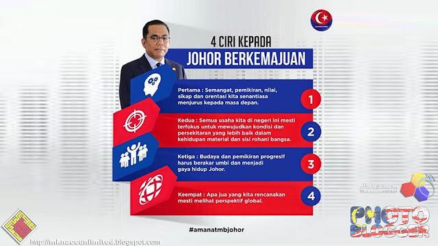 4 ciri kepada Johor Berkemajuan