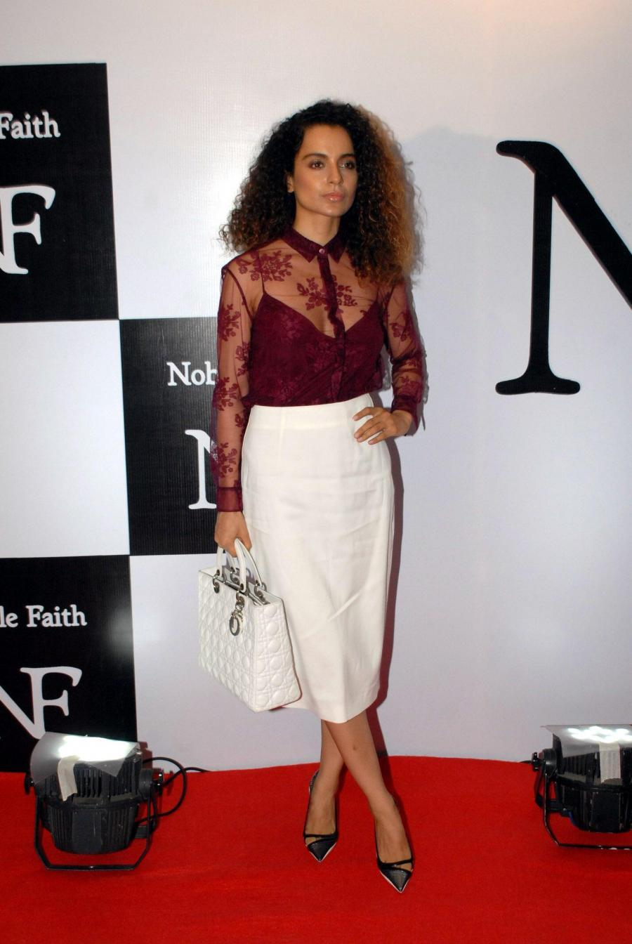 Bollywood Actress Kangana Ranaut Brown Curly Hair Stills