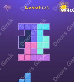 Cheats, Solutions, Walkthrough for Move Blocks Easy Level 123