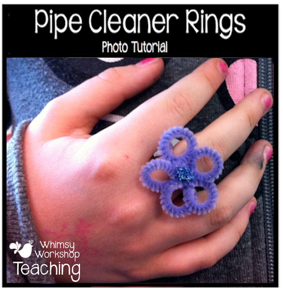 Cleaning Rings: Pipe Cleaner Rings Craft Tutorial