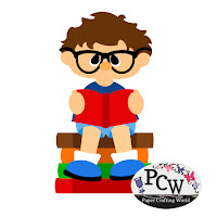 Boy Reading School Books SVG Cut File