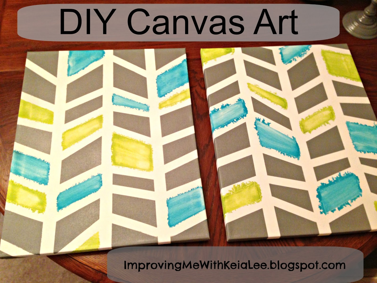 Blue Canvas Art Diy: Improving Me: DIY Canvas Art Project