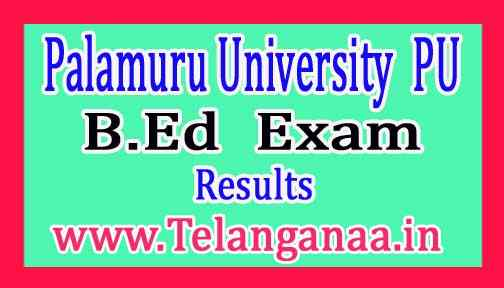 Palamuru University B.Ed 1st Sem Improvement / Supply Exam Results