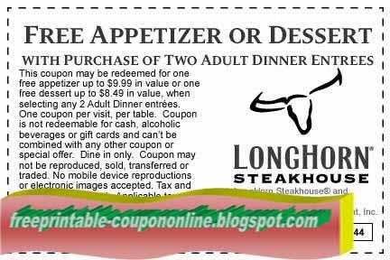 Longhorn printable coupons