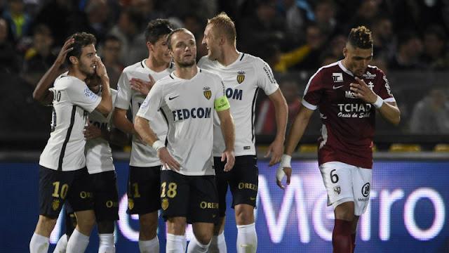 Monaco s'impose 7-0 à Metz