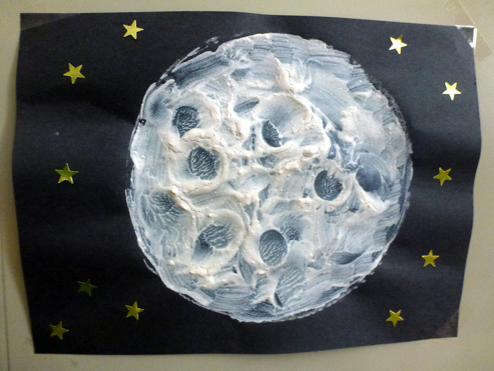 Textured Moon Paintings Choices For Children
