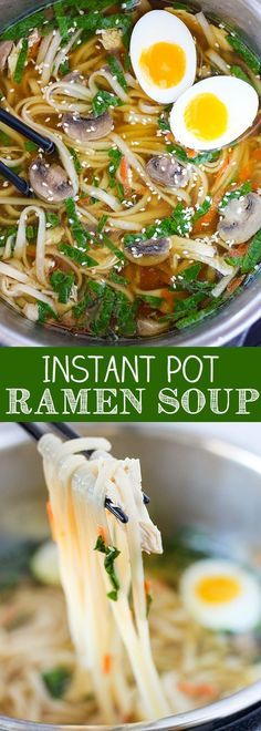 INSTANT POT PRESSURE COOKER RAMEN SOUP RECIPE