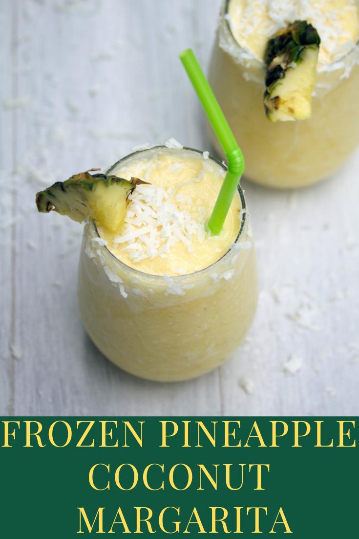 Easy Recipe Frozen Pineapple Coconut Margarita For Healthy Drink