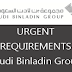 Urgent Requirements for Saudi Binladin Group - Saudi Arabia 2020