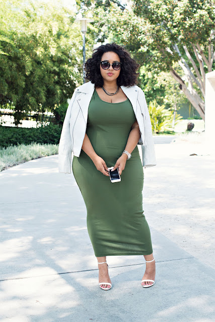 gabifresh khaki dress labor day look